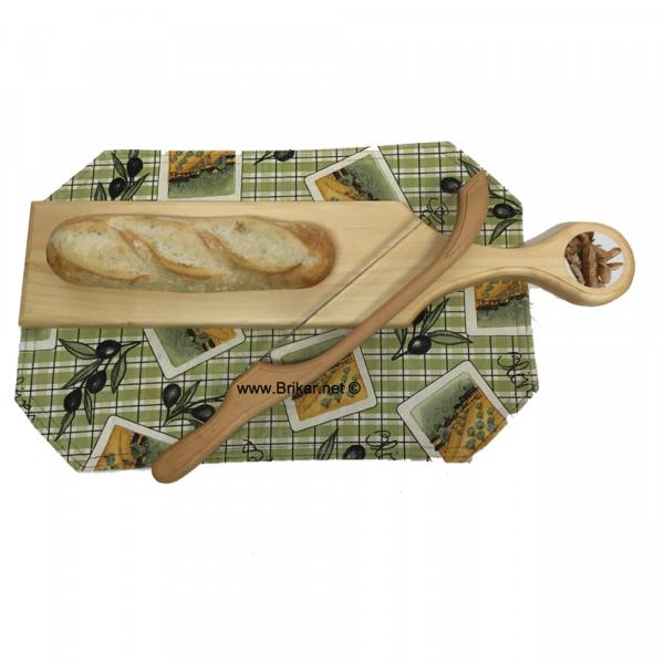 planche et scie à pain pour baguette