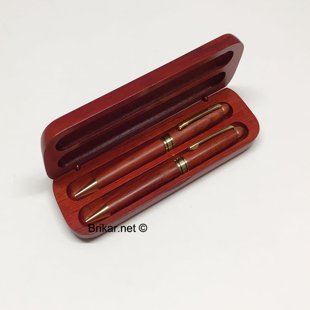 Ensemble stylo et porte-mine en bois de rose