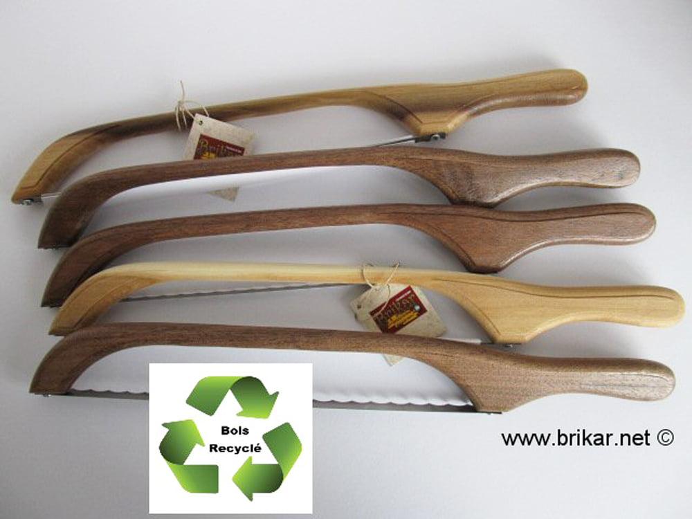 scie à pain en bois recycler