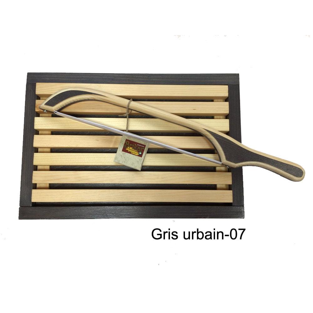 Planche ramasse miette et scie à pain couleur gris-urbain